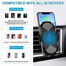 Wireless <b>Car</b> Charger Mount, HonShoop Auto-Clamping <b>Qi 10W</b>