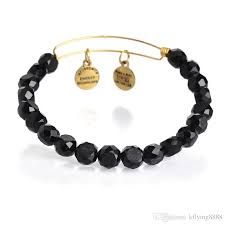 2019 vintage alex and ani black bead bracelet antique gold plated expandable wire charm bangles new 2016 201627 from kflying8888 1 92 dhgate com