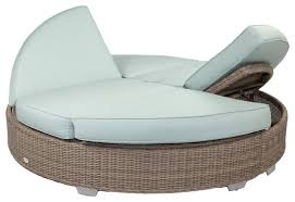 outdoor round chaise lounge stylish palisades double with sunbrella cushions in 1
