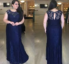 Kiyonna Dress Size Chart Fashion Navy Lace Plus Size Special Occasion Prom Evening Dress 2020 Jewel Sheer Neck Cap Short Sleeves Rhinestones Cheap Formal Gowns Formal Wear