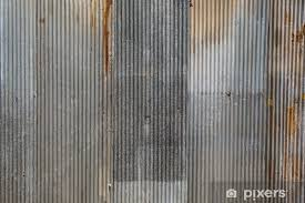 a rusty corrugated iron metal texture vinyl wall mural industry