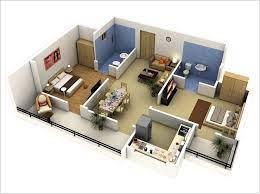double floor home design plans 3d