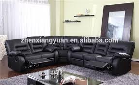 black leather reclining sofa. Perfect Reclining New Style Black Leather Recliner Corner Sofa Set With Wedge  Buy  DesignsShanghai SetNew Italian  Throughout Reclining