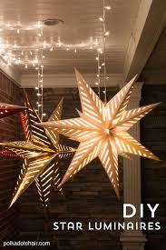 How to hang Star Luminaires on your front porch- what a clever idea for  decorating