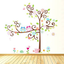 owl tree wall decal owl wall decals stickers owl tree wall stickers uk owl tree nursery