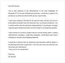 Cover Letter Marketing Coordinator Sample