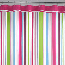image of hot pink and lime green shower curtain