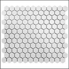 home depot hex floor tile hexagon mosaic tile