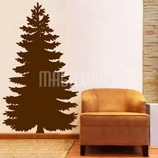 evergreen tree silhouette wall decals stickers
