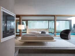 Bedroom:Elegant Bedroom Design With Cozy Black Single Sof Aand Drum Shape  White Standing Lamp