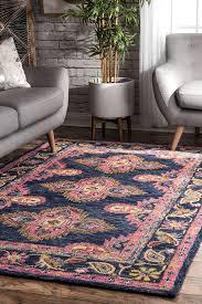 area rugs perryman hand hooked wool navy area rug