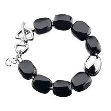 selene black agate twilight silver bracelet hot diamonds