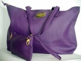 joy mangano joy genuine leather smart bag with rfid protected clutch purple com