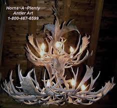 ant fd341 40 inch dia double tier natural fallow deer antler