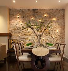 View in gallery dining room accent wall stone