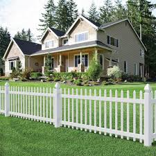 white decorative garden fence