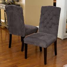 peachy gray fabric dining chairs minimalist room and sharp looking finish cly also chairsgray grey linens
