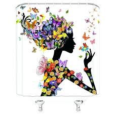 black girl shower curtain natural black woman shower curtain