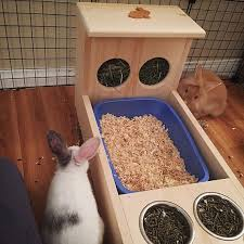 rabbit hay feeder with litter box food