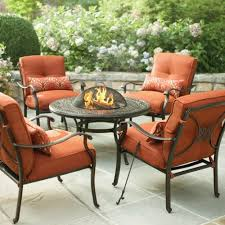 outdoor furniture home depot. cold spring 5piece patio fire pit set with red cushions outdoor furniture home depot l