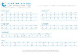 Wave Maker Size Chart Wave Uniform Specialists In Yacht Crew Uniforms Accessories