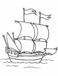 Kleurennu Zeilboot Op Zee Kleurplaten