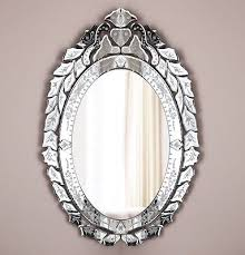 french venetian glass wall mirror arched oval french bath bedroom antique style