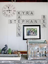 Add to favorites large scrabble tiles, scrabble tiles, wall art, family wall art, family names, scrabble tile wall art, scrabble tiles for wall. My Porch Prints Diy Scrabble Tile Wall Decor