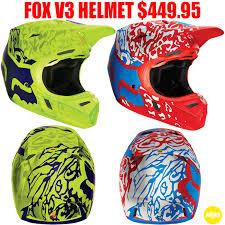 Fox Racing V3 Cauz Helmet Pro Style Mx
