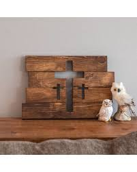 amazing deal on wooden cross wall decor three crosses decor home