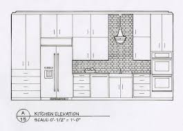 Kitchen Design Sketch Mesmerizing Detailed Elevation Drawings Kitchen Bath Bedroom On Behance