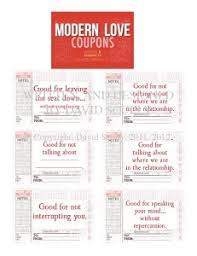 Relationship Coupon Book Modern Love Coupon Book Salutations By Scully Greeting Cards
