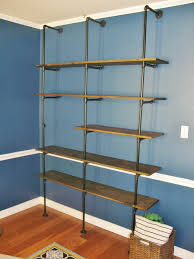 Industrial Bookcase Diy Diy Industrial Pipe Bookshelf Brass Peacock