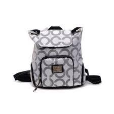 Coach Classic Monogram Medium Grey Backpacks DHO