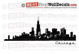 chicago skyline detailed wall decal