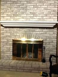 stone fireplace painted white should i paint my brick fireplace painted white brick fireplace ideas stacked