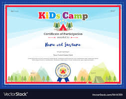 Modern Certificate Of Participation For Kids