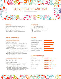 Customize 40 Creative Resume Templates Online Canva Best Unique Resumes