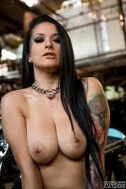 Katrina Jade Busty Tattooed Girl Gets Nasty in the Bike Shop