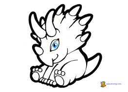 Small Picture Baby dinosaur coloring page cute dinosaur coloring pages