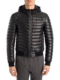 dolce gabbana padded leather jacket black men apparel shearling dolce and gabbana handbags