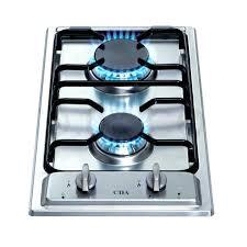 2 burner gas cooktop domino hob stainless steel with lpg 2 burner gas cooktop