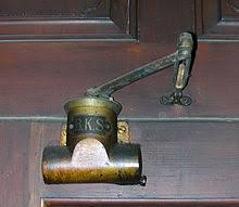 old type of manual door closer made by bks