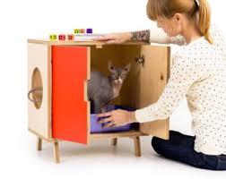 Decorative Cat Litter Box Covers Mid Century Modern Pet Furniture Cat Litter Box by modernistcat 74