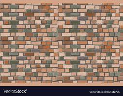 old brick wall background vector image