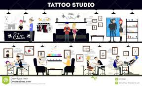 Tattoos For Interior Designers Tattoo Studio Interior Design Tattoo Masters And Customers