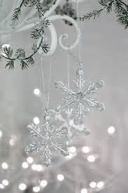 Antiker Christbaumschmuck Schneeflocke Kristall