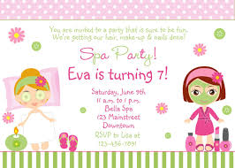birthday invitation ideas free spa party invitations printables s invitetown