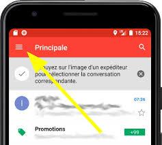 le courrier dans un Maxwest Android 330