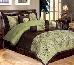 magnificent sage comforter sets queen 7 piece bedding green brown with set inspirations 11